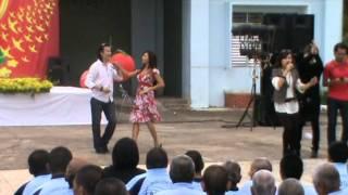 Cặp vũ sư nổi tiếng của trung tâm Thúy Nga khiêu vũ