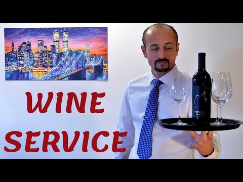 NEW WAITER/ NEW WAITRESS TRAINING. PART TWO - WINE SERVICE! PRESENTING AND OPENING BOTTLE OF WINE!