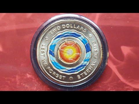 New Australian coloured $2 coin