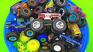 Monster Trucks for Kids #5   Learn Monster Truck Names & Colors   Fun & Educational Organic Learning