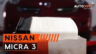 Hvordan bytte kupèfilter på NISSAN MICRA 3 BRUKSANVISNING   AUTODOC