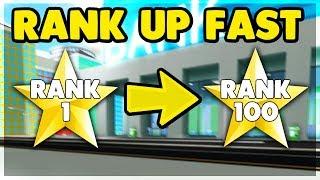 * NOVO * como classificar-se rápido na cidade louca (RANK 100) tutorial   Roblox: cidade louca