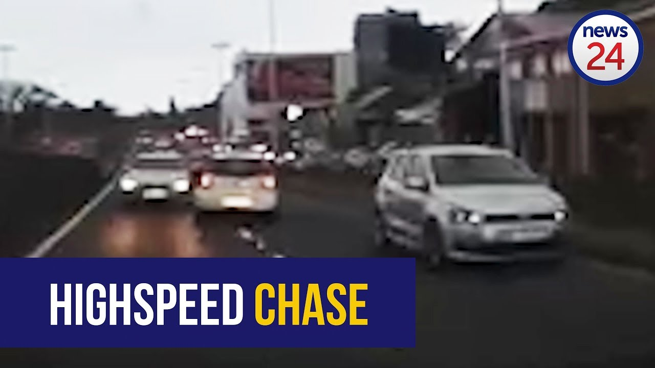 WATCH: Suspected thieves arrested after high-speed chase through