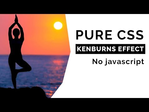 Pure CSS Ken burns Effect | No javascript | Only html and css