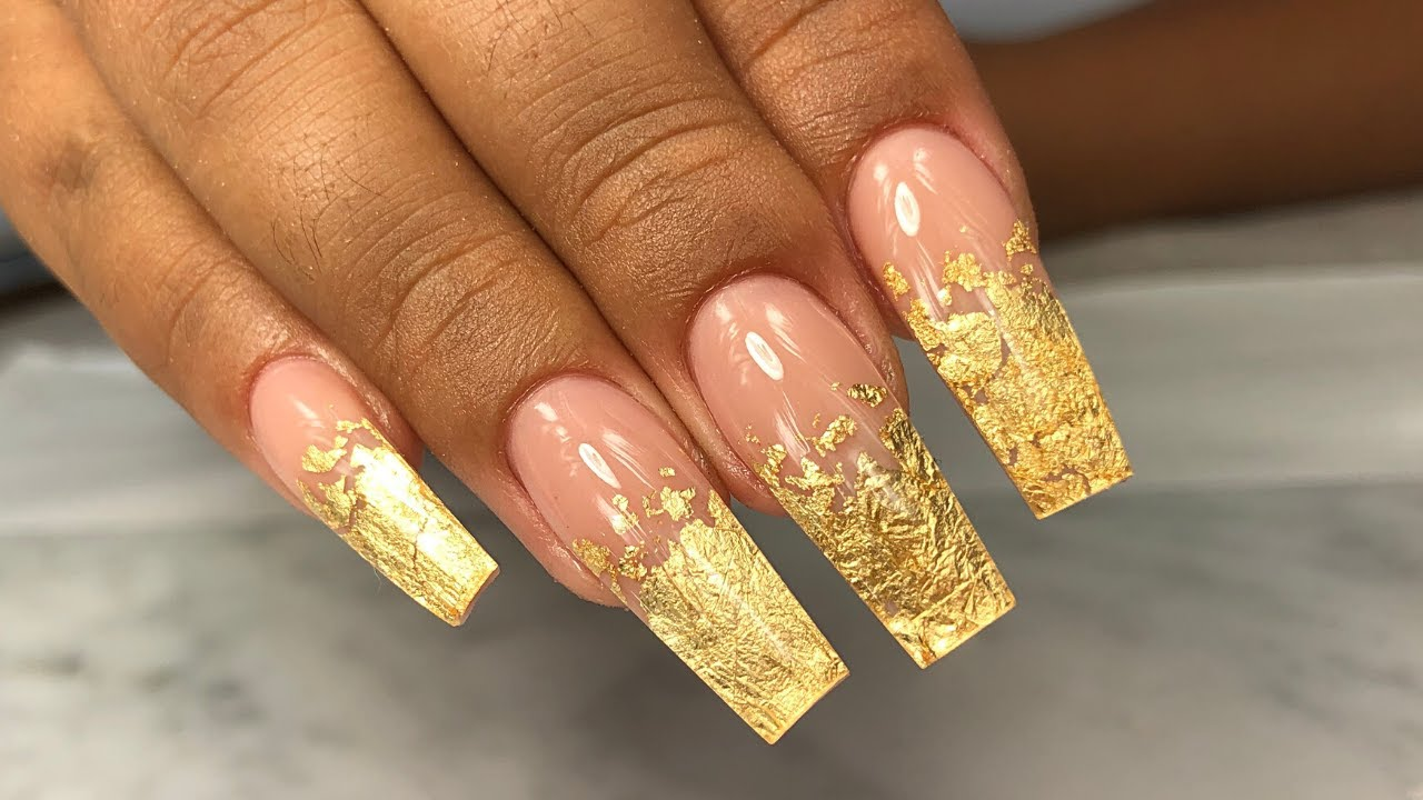 HOW TO: Gold Foil Ombre Nails | Step By Step For Beginners