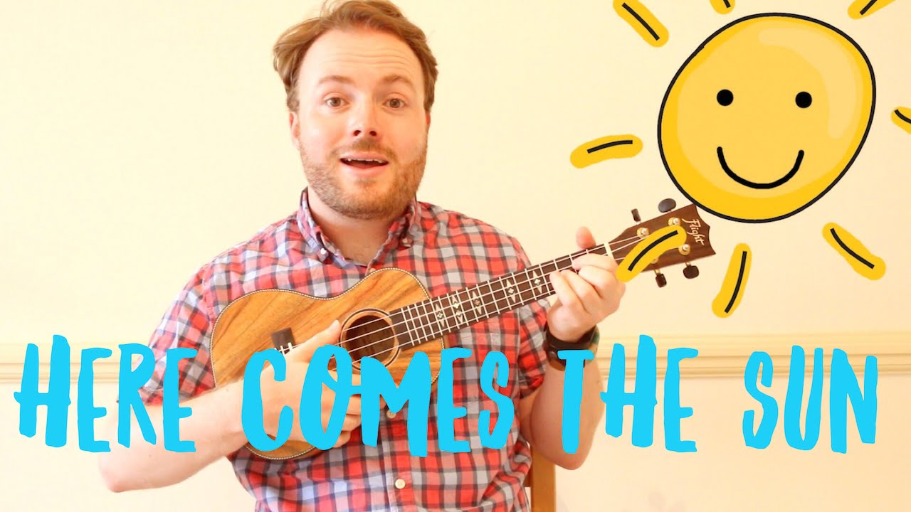 Here Comes The Sun Easy Ukulele Tutorial Youtube