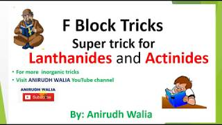 Video F Block Tricks || F Block Revision || Inorganic Tricks || Lanthanides Tricks || Actinides |F Block download MP3, 3GP, MP4, WEBM, AVI, FLV Juni 2018