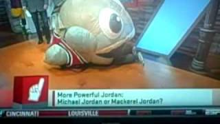 Michelle Beadle gets owned by Large Inflatable Mackerel