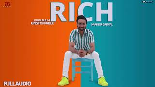 Rich : Hardeep Grewal (Official Song) Latest Punjabi Songs 2019 | Hardeep Grewal Music