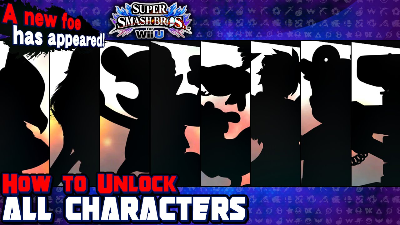 How To Unlock All 8 Characters in Super Smash Bros for Wii U  YouTube