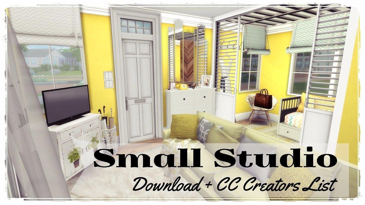 Sims 4 Small Studio Download Cc Links Creators Part2 Youtube