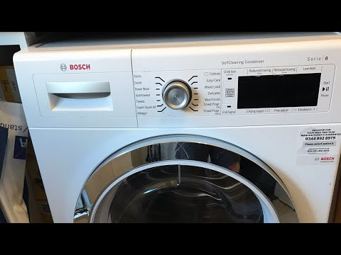 Hotpoint Aqualtis & BOSCH Condenser Dryer Shirts Wash and Dry Cycles