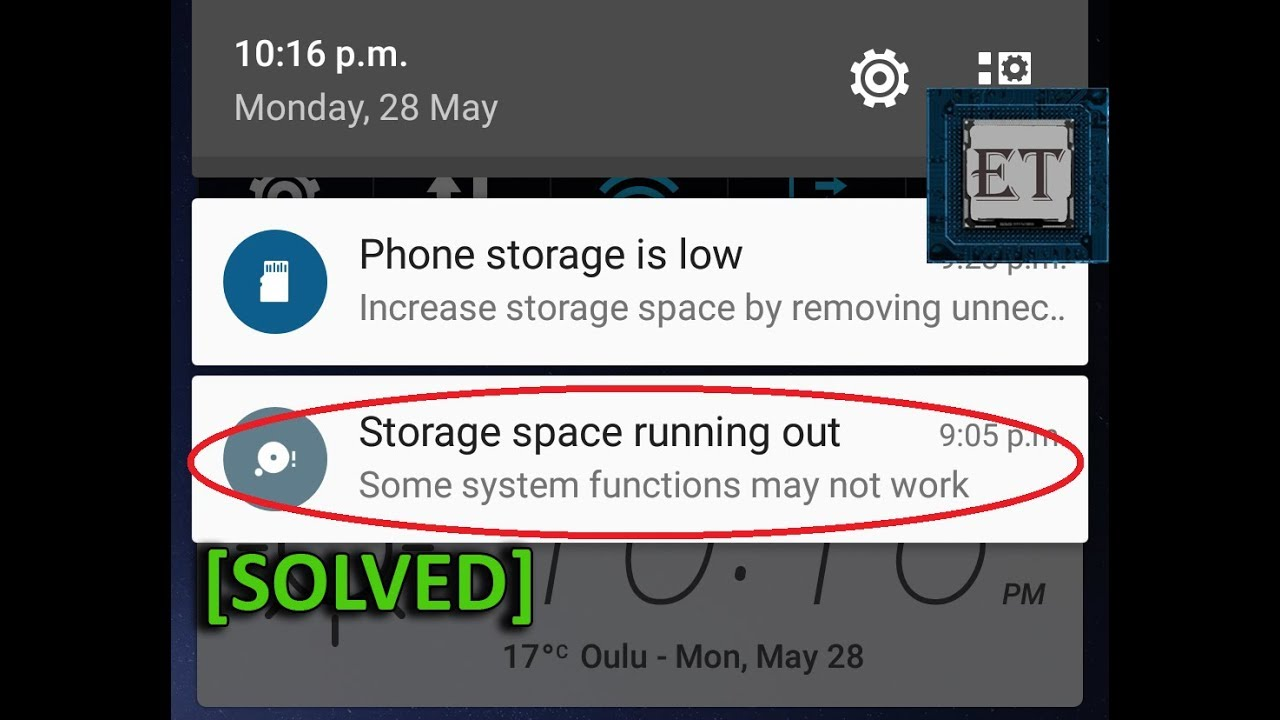How To Free Up Phone Memory Space On Android Storage Space Running Out Solved 7 Ways Youtube