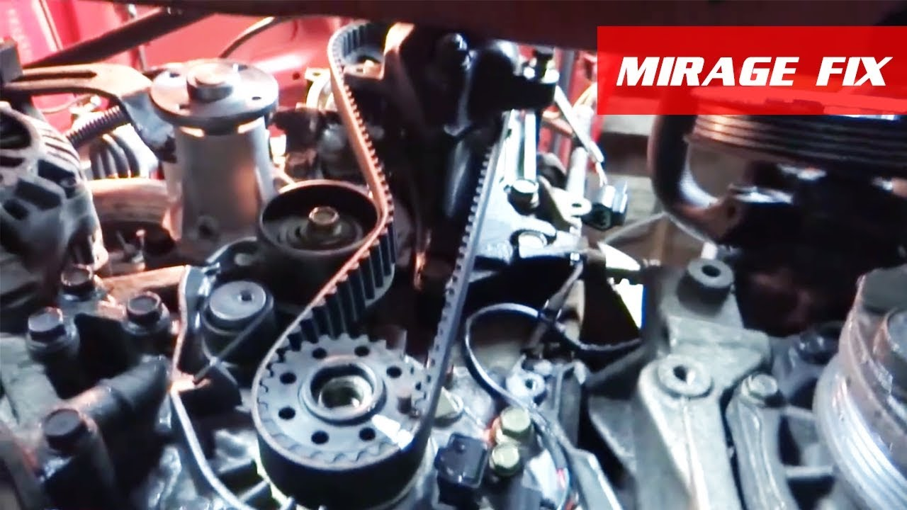 mirage fix 4 steering alternator timing belt water pump 4g15 [ 1280 x 720 Pixel ]