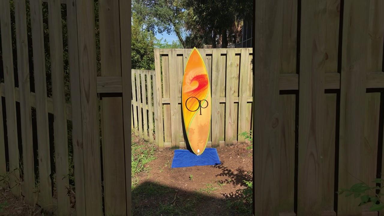 6 Op Ocean Pacific Surfboard 1980 S