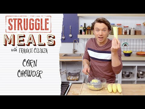 A Plant-Based Culinary Service Announcement! Corn Chowder | Struggle Meals