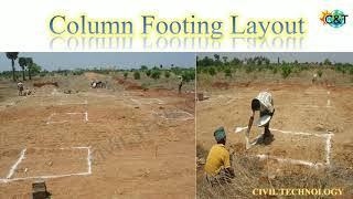 Column Marking Procedure || Column Layout Work || Civil Technology