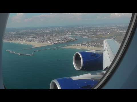 British Airways Airbus A380 ✈ Departing Los Angeles Airport LAX
