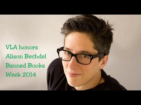 The Vermont Library Association honors Alison Bechdel for Banned Books Week 2014
