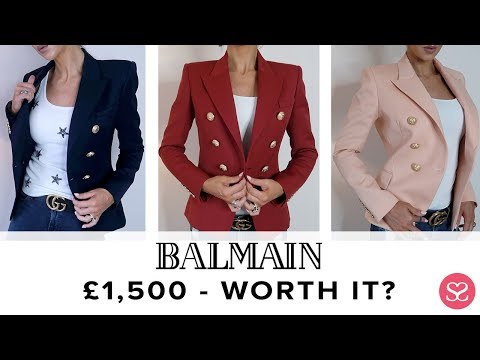 0e83ac36 BALMAIN BLAZER: ALL YOU NEED TO KNOW + £34 DUPE! 😱 | Sophie Shohet -  YouTube