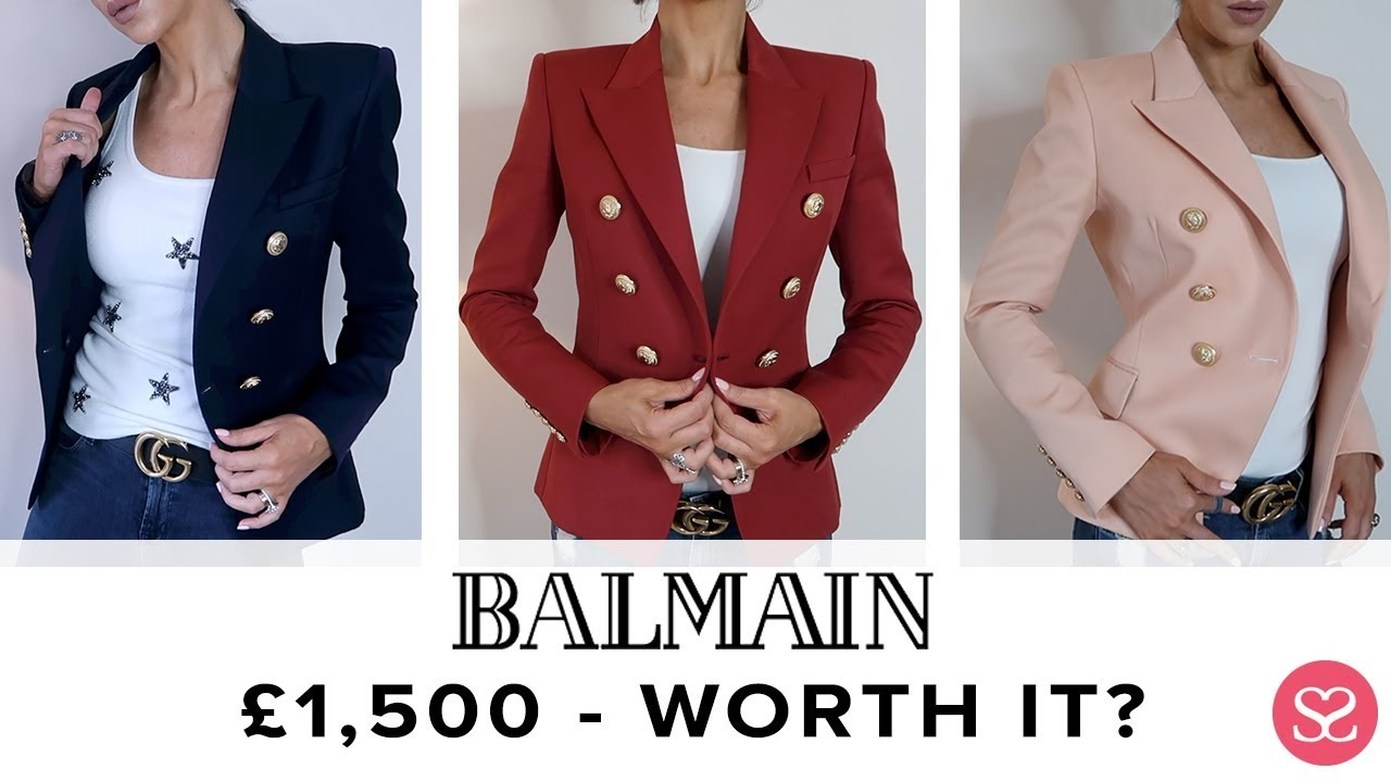 257a60c724aa BALMAIN BLAZER: ALL YOU NEED TO KNOW + £34 DUPE! 😱 | Sophie Shohet ...