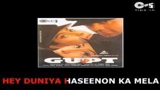 Duniya Hasino Ka Mela- Bollywood Sing Along - Udit Narayan - Gupt