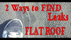Flat Roofing - 2 Ways to Find Leaks in Modified Bitumen Rolled Roofing