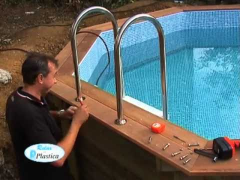 How to install a Wooden Pool Part 10/13 - Stainless SteelLadder - DIY