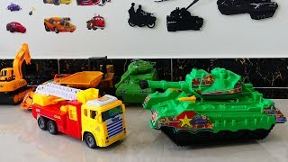 Cars for kids| Toys Review and Learning Name and Sounds Fire Truck,Dump Truck,Tanks