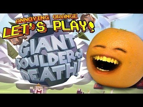 Annoying Orange Let's Play GIANT BOULDER OF DEATH!