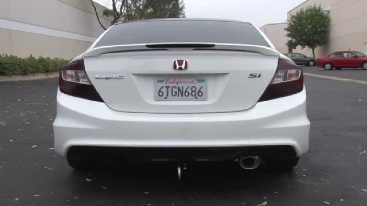 2012 honda civic si sedan performance exhaust system kit cat back 15058 magnaflow stainless steel