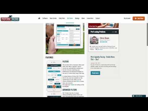 Proform Racing Bet Finder Web App By Ascensor