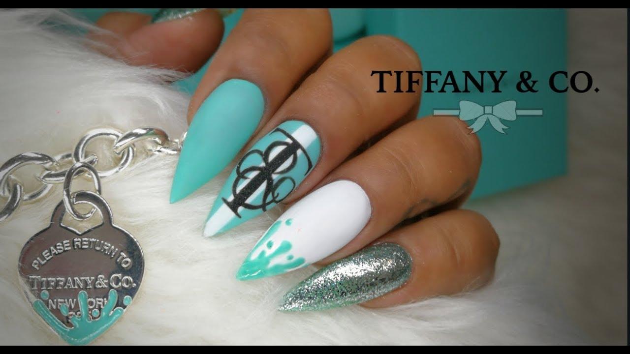 Tiffany Co Inspired Nail Art