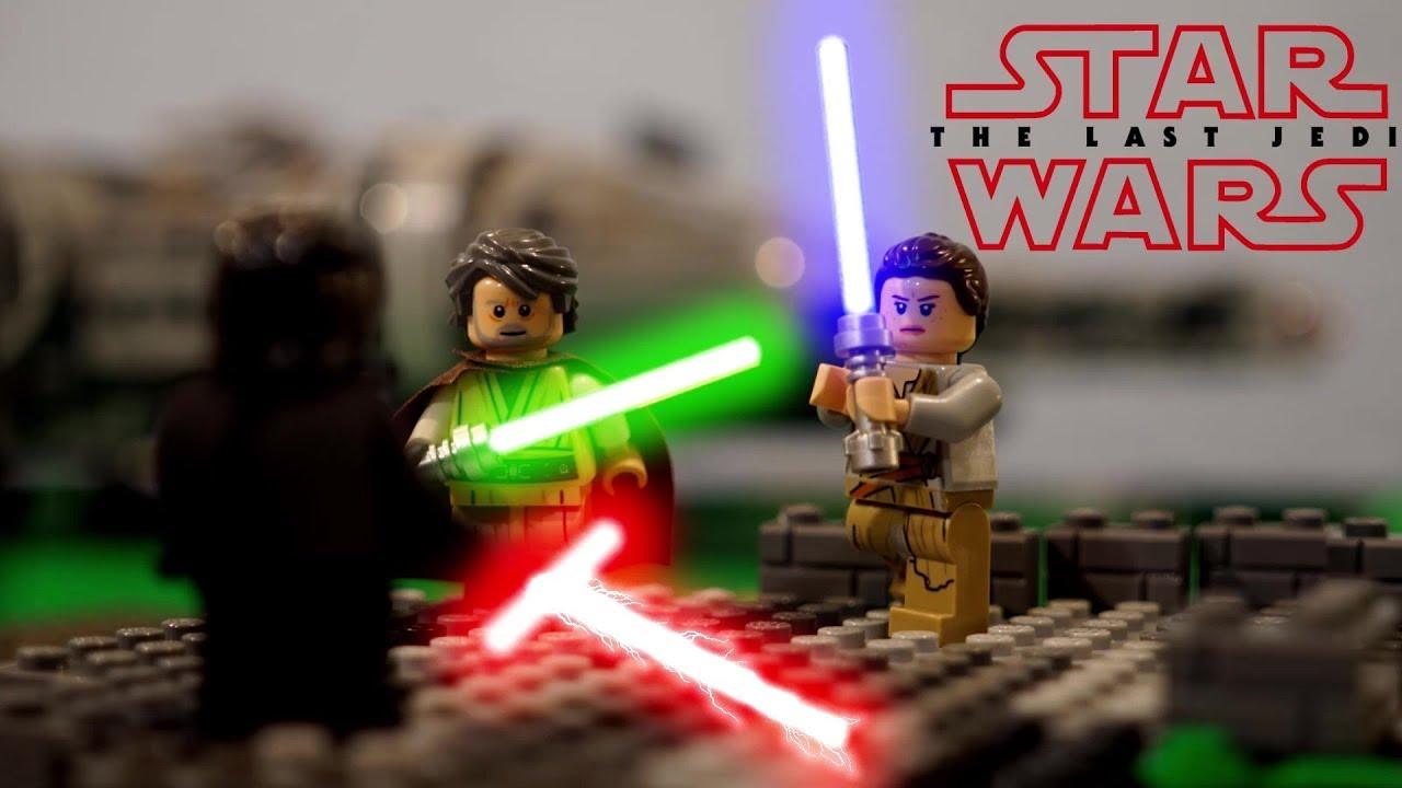 Lego Star Wars The Last Jedi Luke And Rey Vs Kylo Ren Youtube