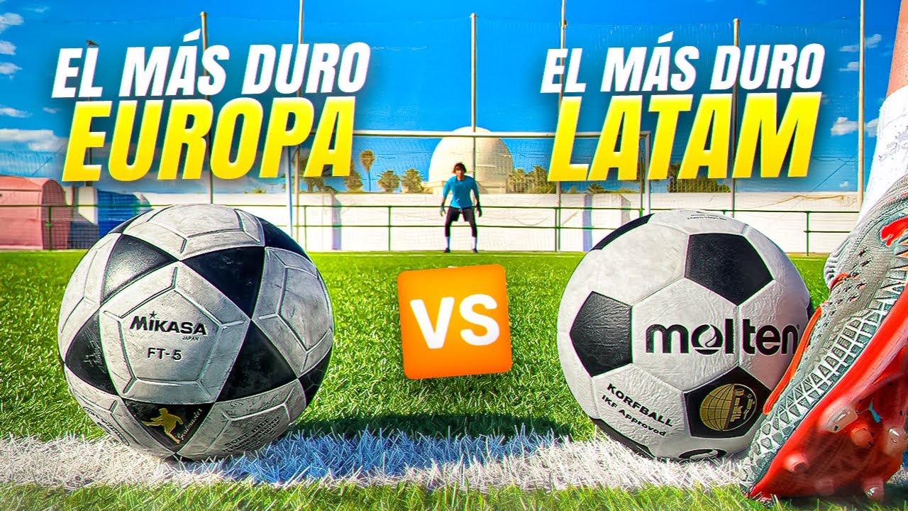 ⚽ EL BALÓN MÁS DURO! ⚽ EUROPA vs LATAM... ¡Retos de Fútbol!