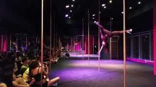 Harmoni pole dance on Out of the Shadows-Cut One