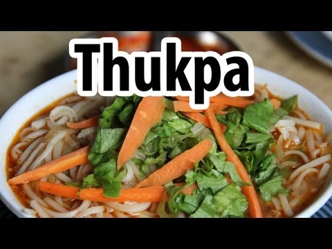 Thukpa - Tibetan Noodle Soup at Boudha, Kathmandu, Nepal