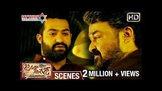 Jr NTR Powerful Warning to Mohanlal | Janatha Garage Telugu Movie Scenes | Samantha | Nithya Menen