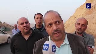 انهيارات صخرية على طريق جرش - عمان تتسبب بأزمة مرورية خانقة - (17-10-2018)