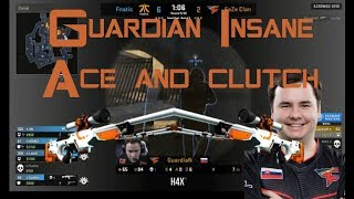 Guardian - Insane awp ace and clutch on overpass!!