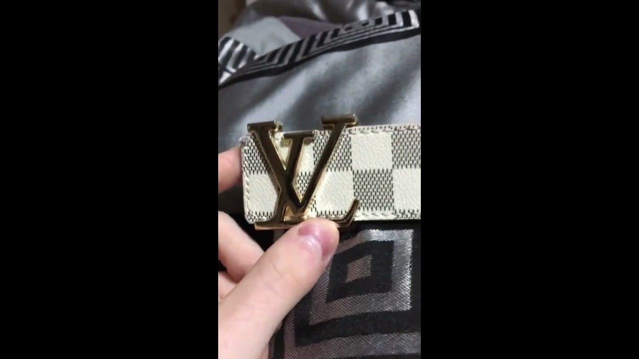e84be57c2d69 Ioffer Louis Vuitton belt review - YouTube