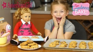 Repeat youtube video AMERICAN GIRL DOLL: Baking Chocolate Chip Cookies Recipe with American Girl Grace Funny Movie Comedy