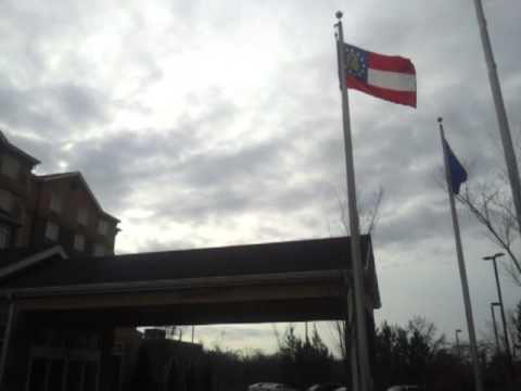 wnc moving company movers at hilton garden inn proudly flies the american flag in gainesville ga - Hilton Garden Inn Gainesville Ga