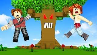 ROBLOX-PARKOUR in the MAGIC TREE ft CRIS MINEGIRL