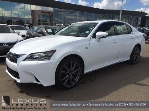 new 2014 lexus gs 350 awd f sport package review in ultra white downtown edmonton ab youtube. Black Bedroom Furniture Sets. Home Design Ideas
