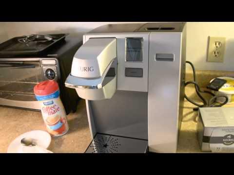 Keurig coffee maker with water line