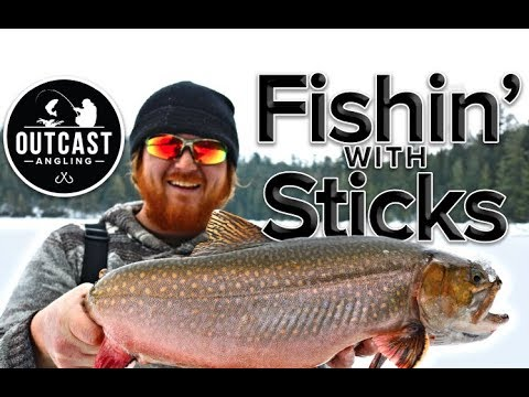 Fishin' With Sticks - Ice Fishing For HUGE Brook Trout