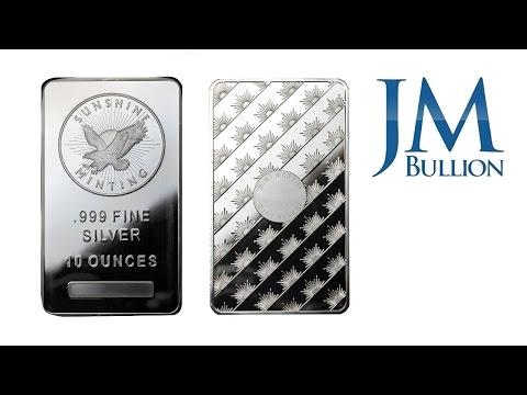 10 oz Sunshine Minting Silver Bar ➜ JMBullion.com