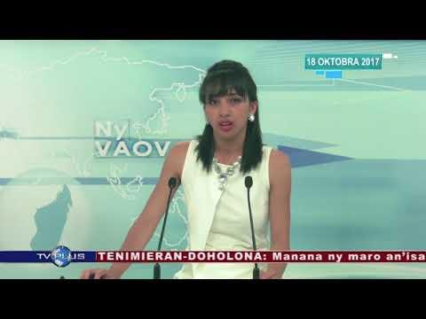 VAOVAO DU 18 OCTOBRE 2017 BY TV PLUS MADAGASCAR