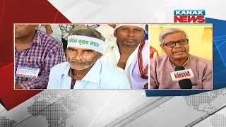 Hunger Strike of Naba Nirman Krushak Sangathan Reaches 2nd Day In Bhubaneswar